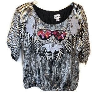 Tops - Vintage Cee Cee Sequined Top